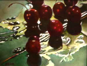 Cherries, Oil, 11x14, $600