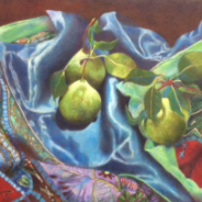 Pears on Quilt