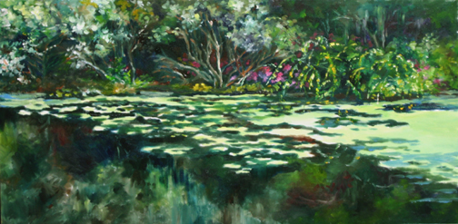 Ashley River Spring-web, 12x24, Oil, $1000